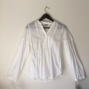 Converse White and Flowy Peasant Top